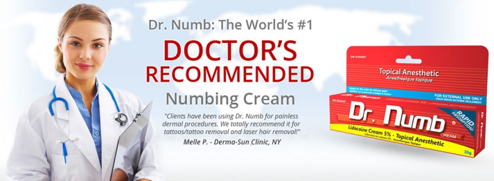 Dr numb 5 lidocaine cream for Numbing cream for tattoos over the counter